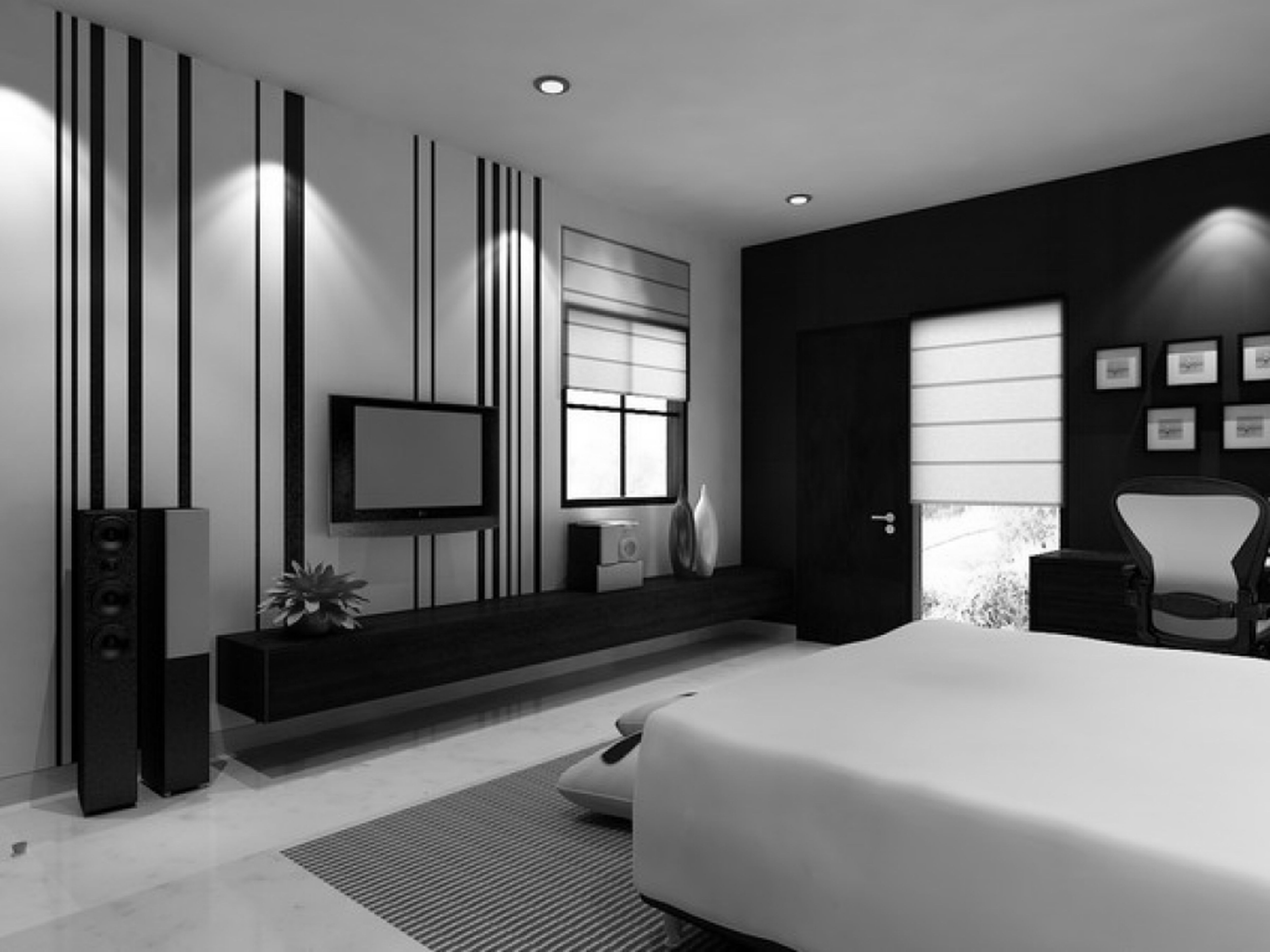 3 Black And White Bedroom Ideas  MidCityEast