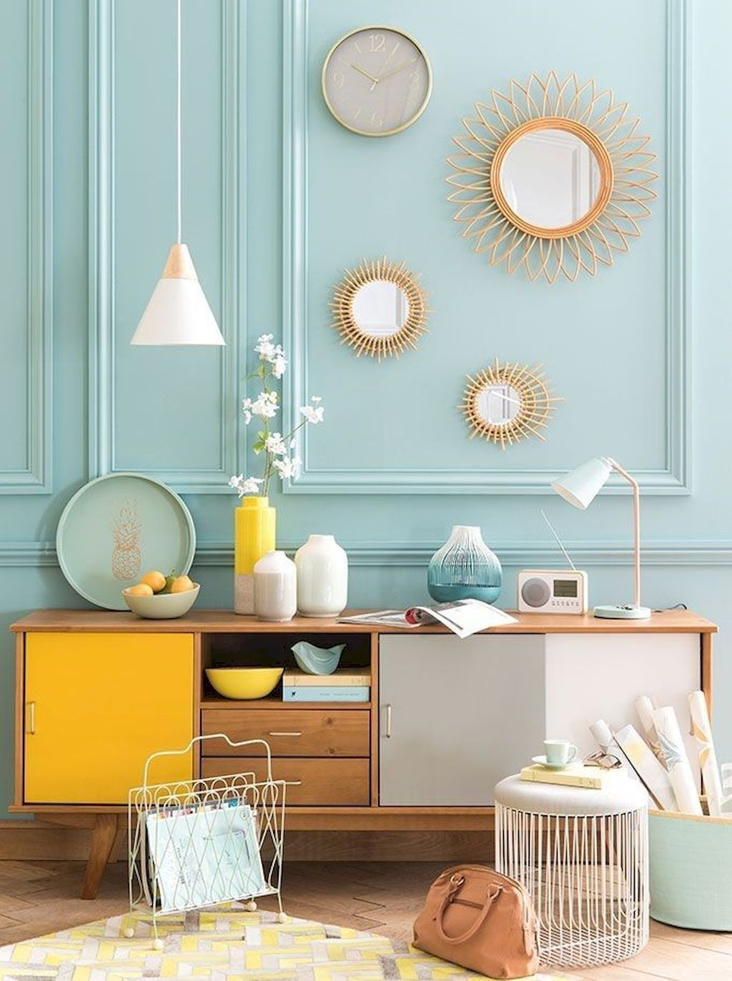 Amazing Interior Ideas in Blue and Yellow Decorations Part