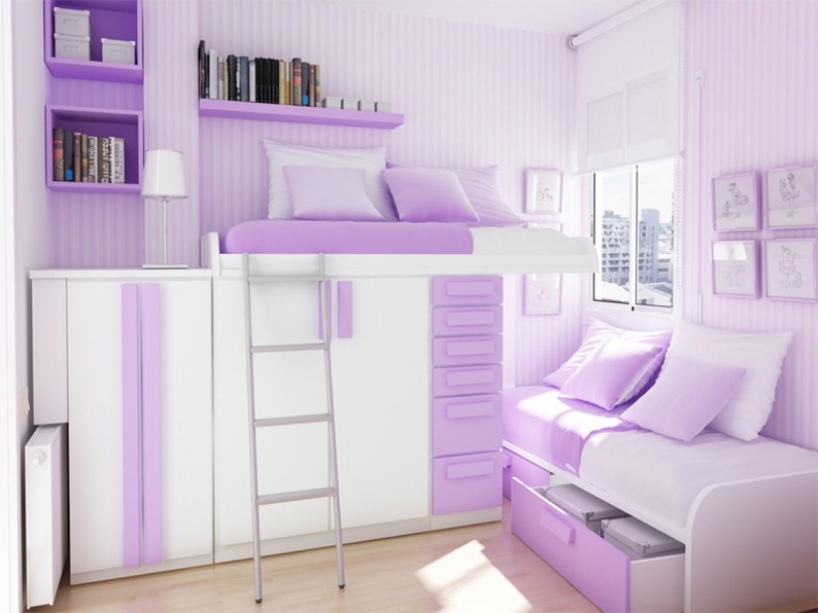 Bed pool purple teen girl bedroom ideas black and purple