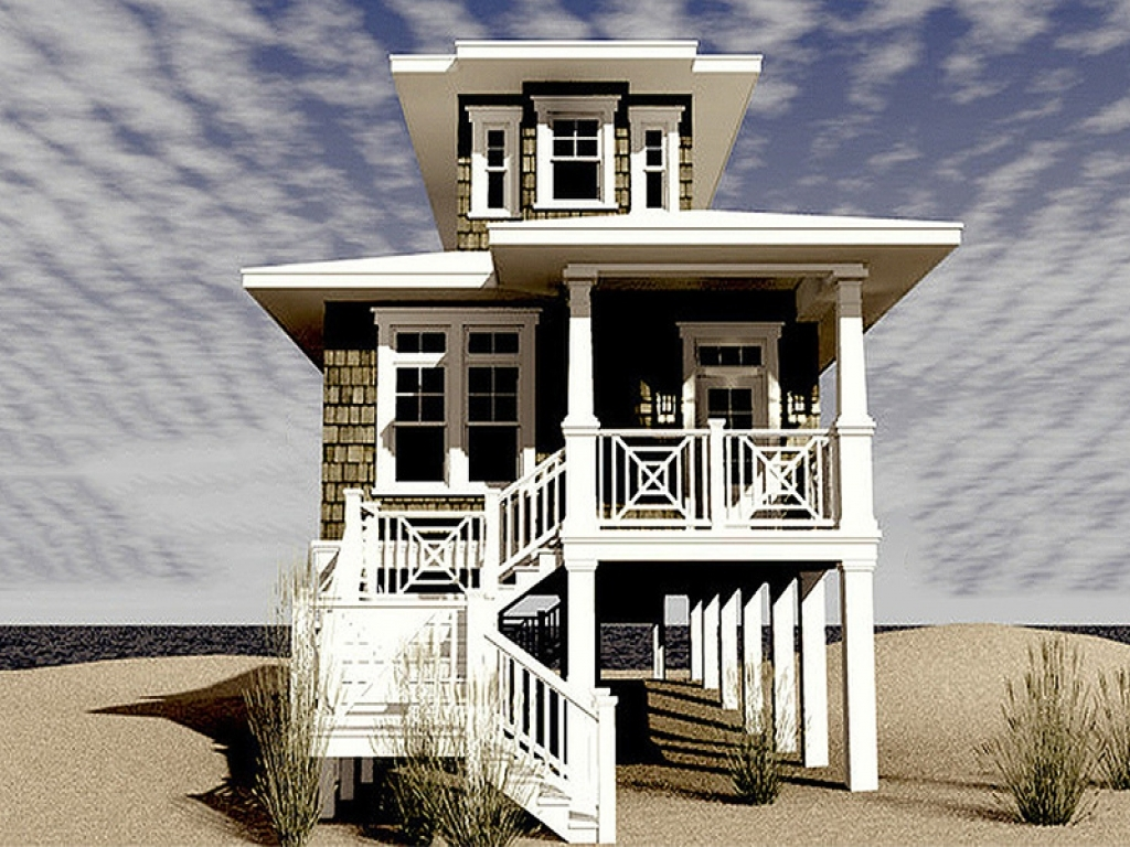 Bedrooms with two beds narrow lot beach house plans beach