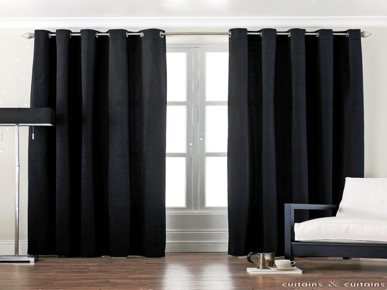Black window treatments black bedroom window curtains