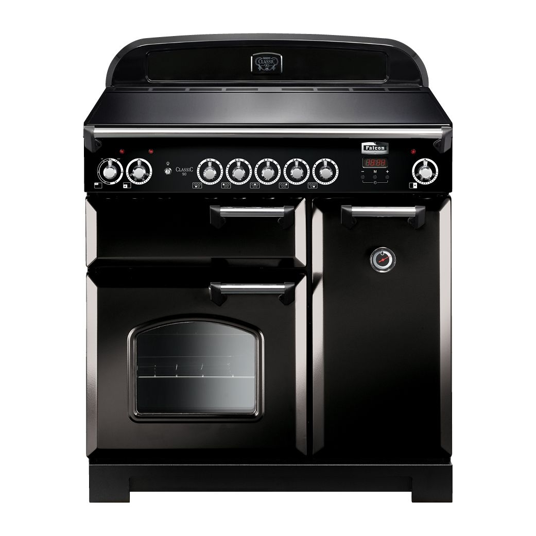 CLASSIC 90CM INDUCTION UPRIGHT COOKER Black falcon
