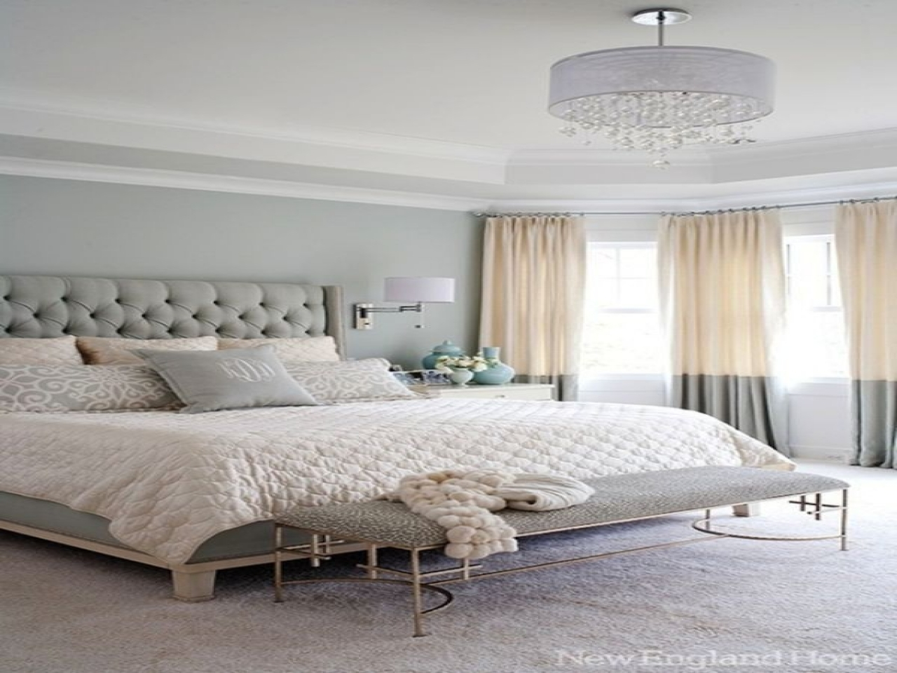 Chic gray bedroom white and gray master bedroom gray