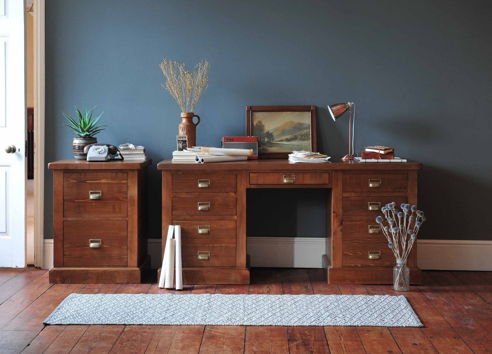 Colours that go with oak furniture With images  Blue