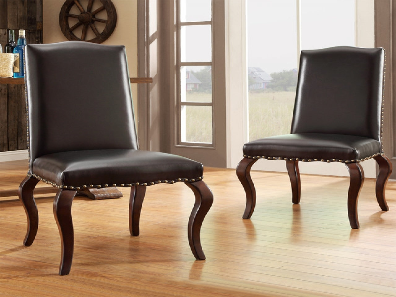 Contemporary upholstered dining chairs queen anne