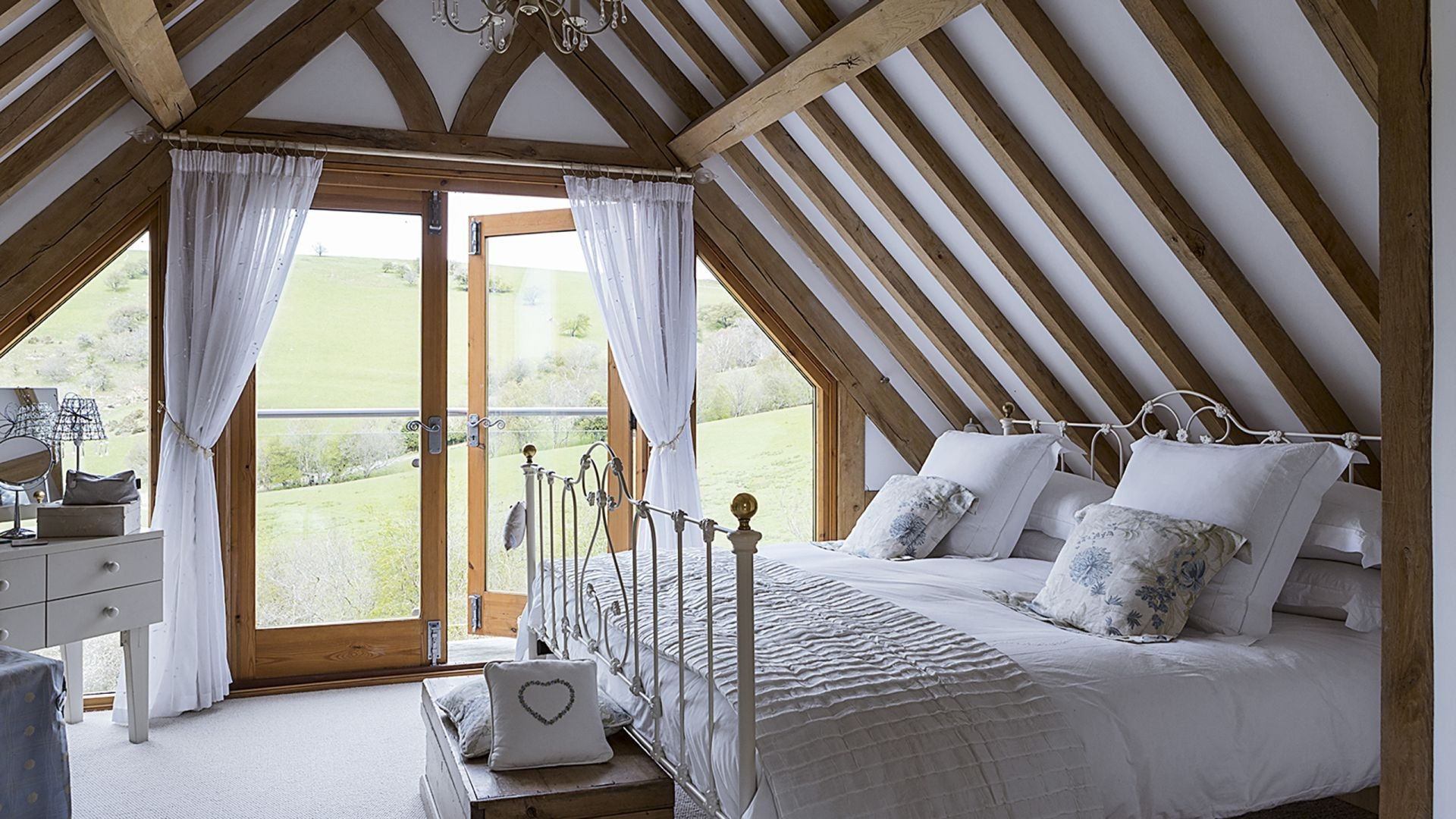 Create a relaxed and cosy bedroom retreat with floaty