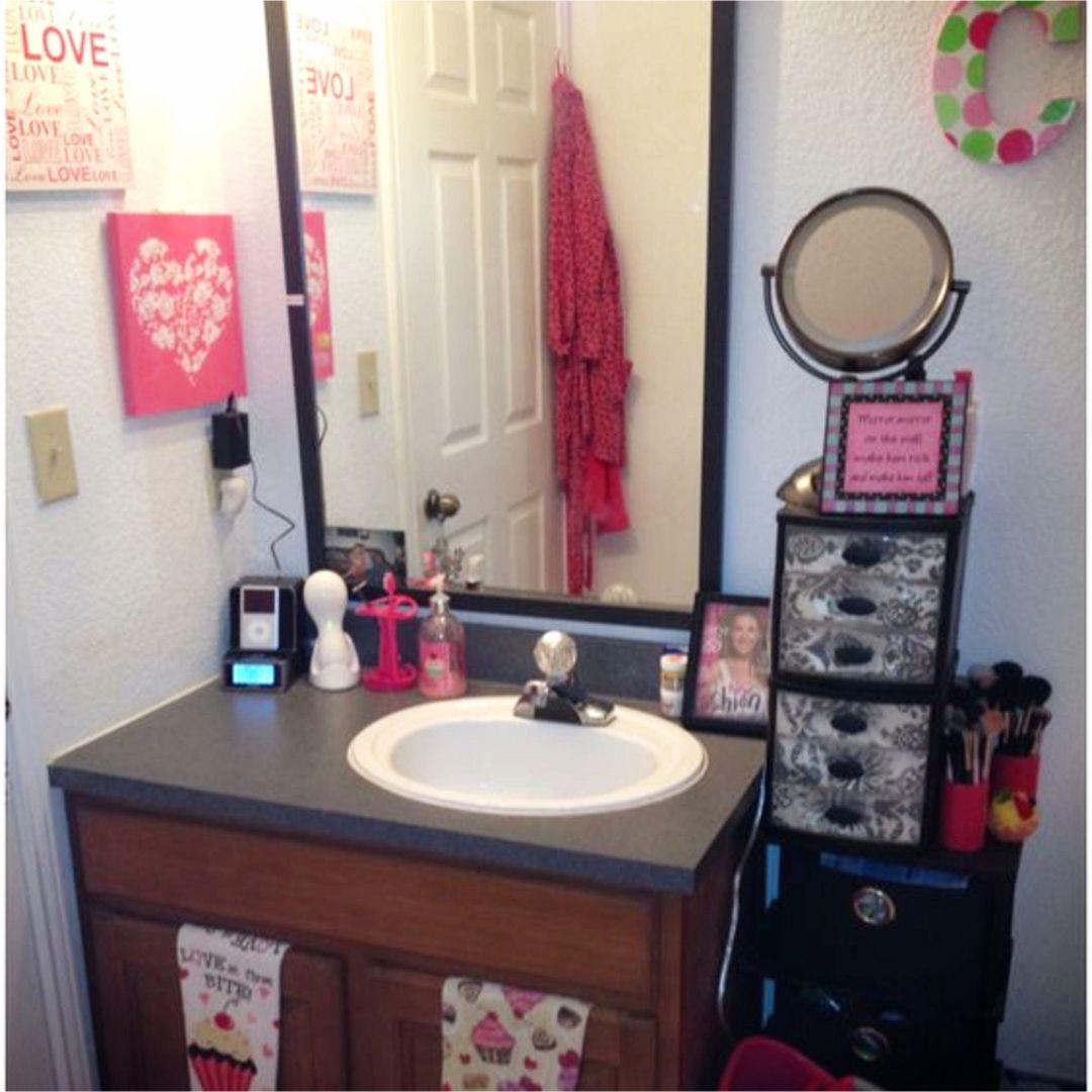 Creative and Comfort Dorm Bathroom Decorating Ideas for