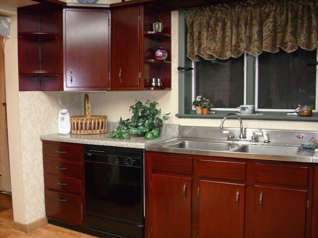 DIY Restaining Cabinets For Kitchen  Loccie Better Homes
