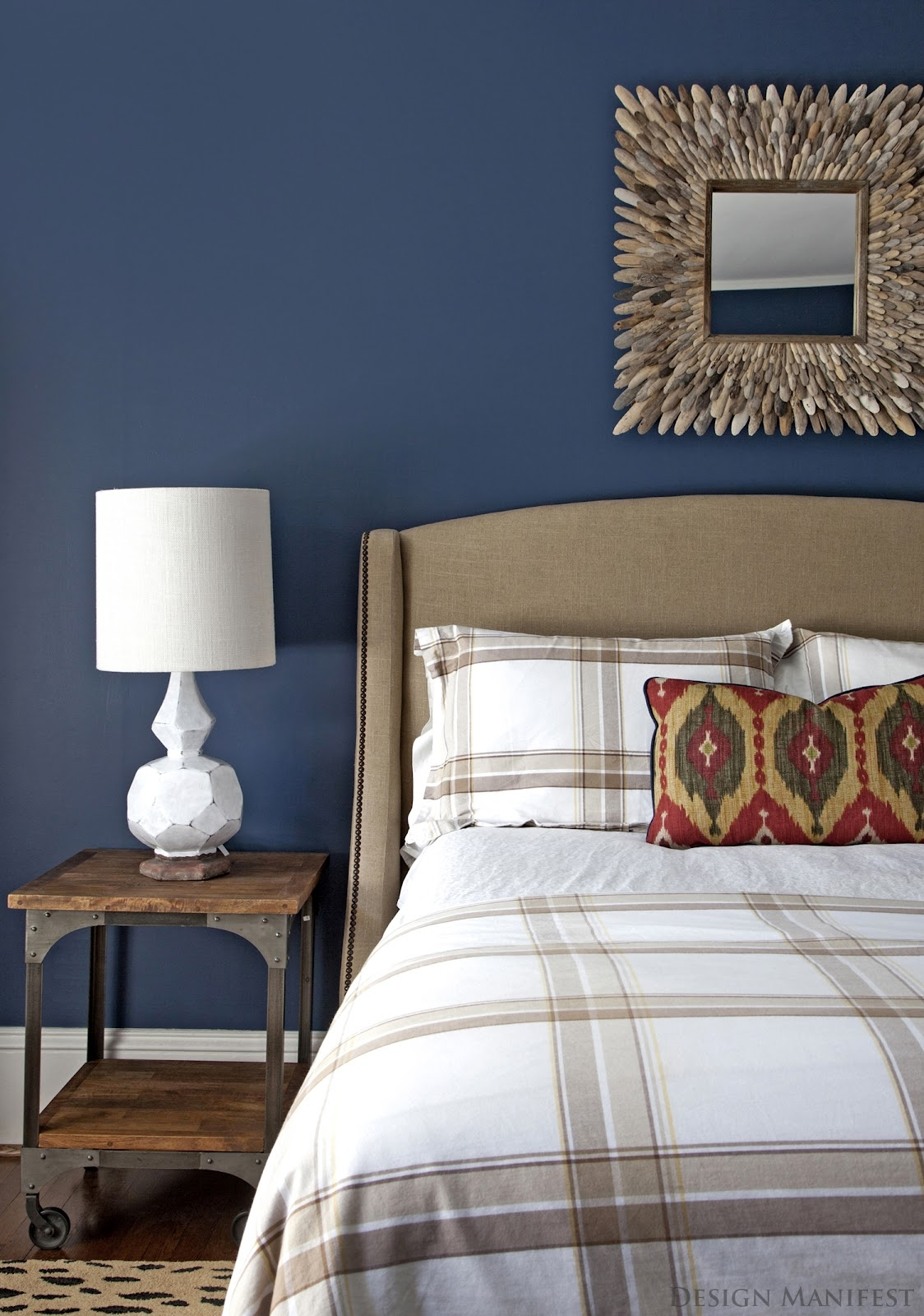 Dark blue modern bedroom small master bedroom decorating