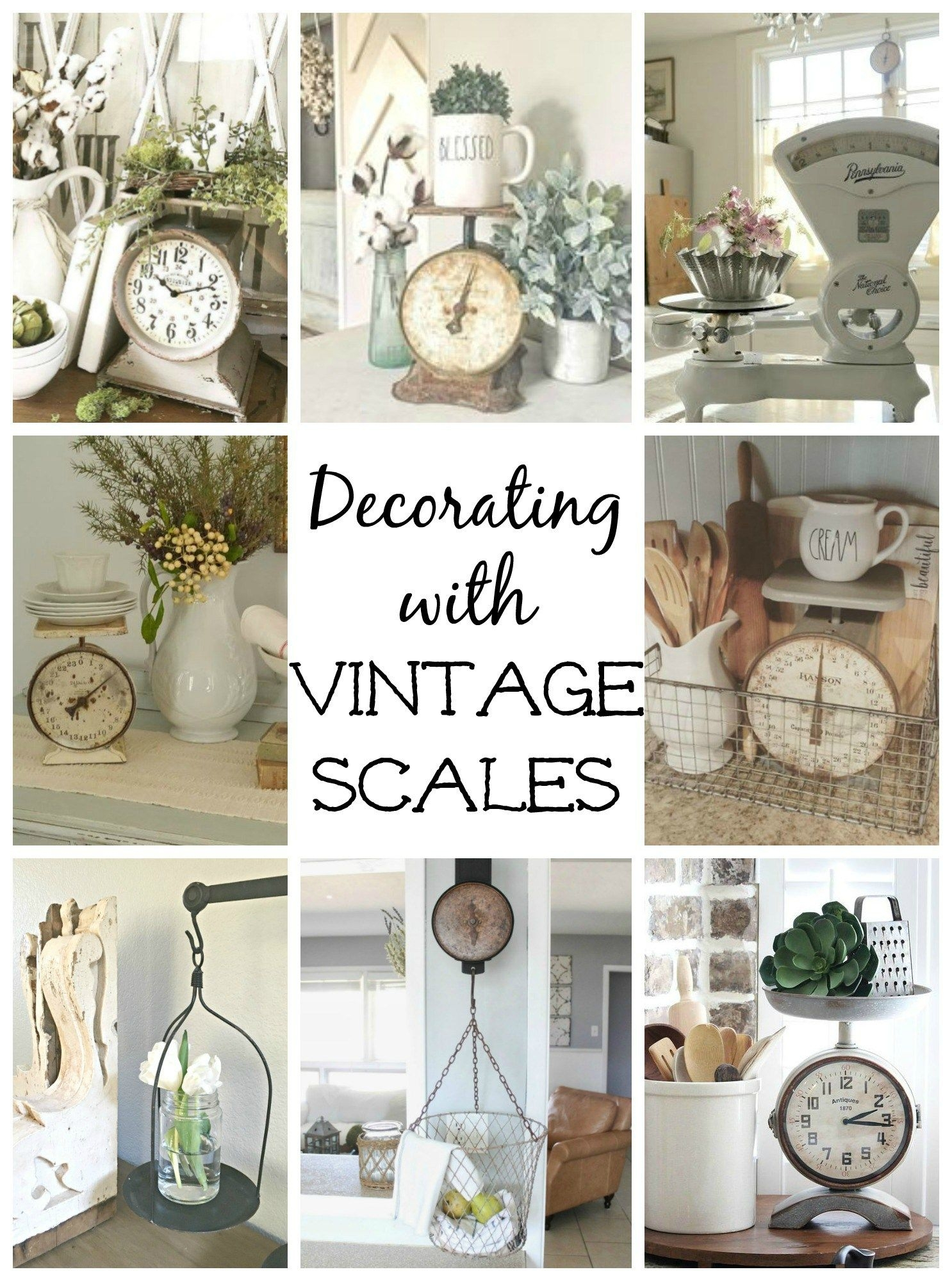 Decorating with Vintage Scales  Vintage scale decor