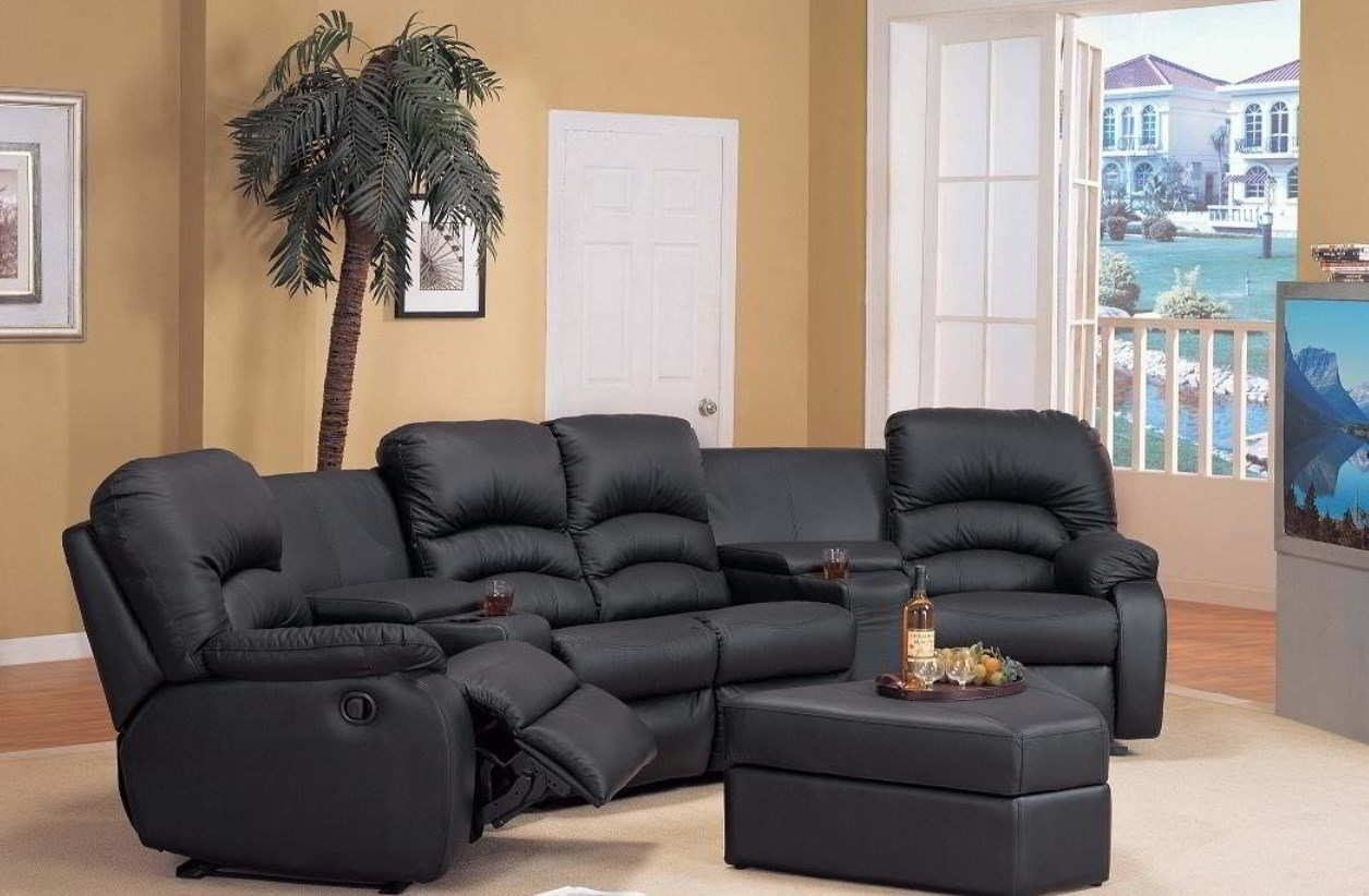 Decorative small sectional sofa with recliner  Small