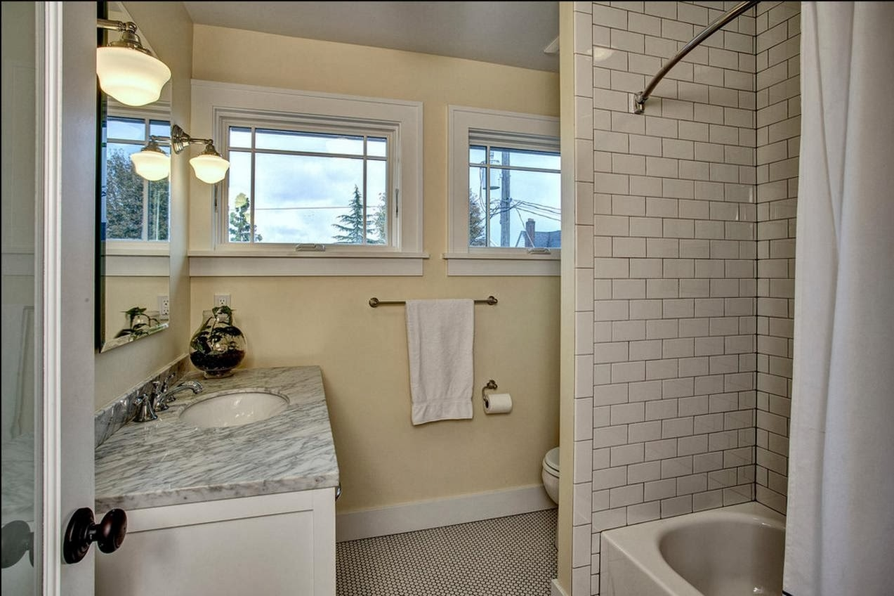 Delorme Designs SMALL BATHROOMSUSE WHAT YOUVE GOT