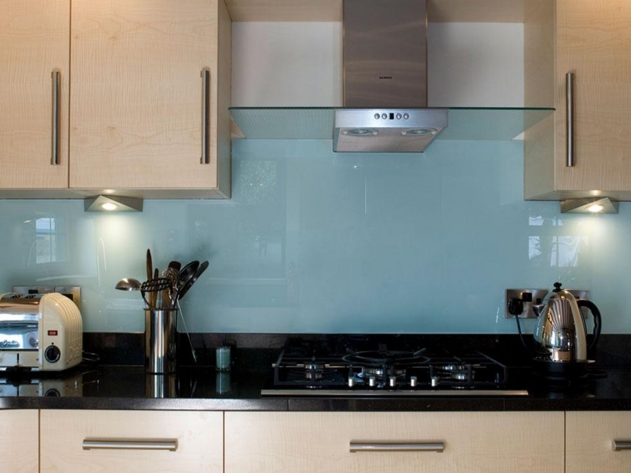 Designer kitchen islands glass splashback kitchen