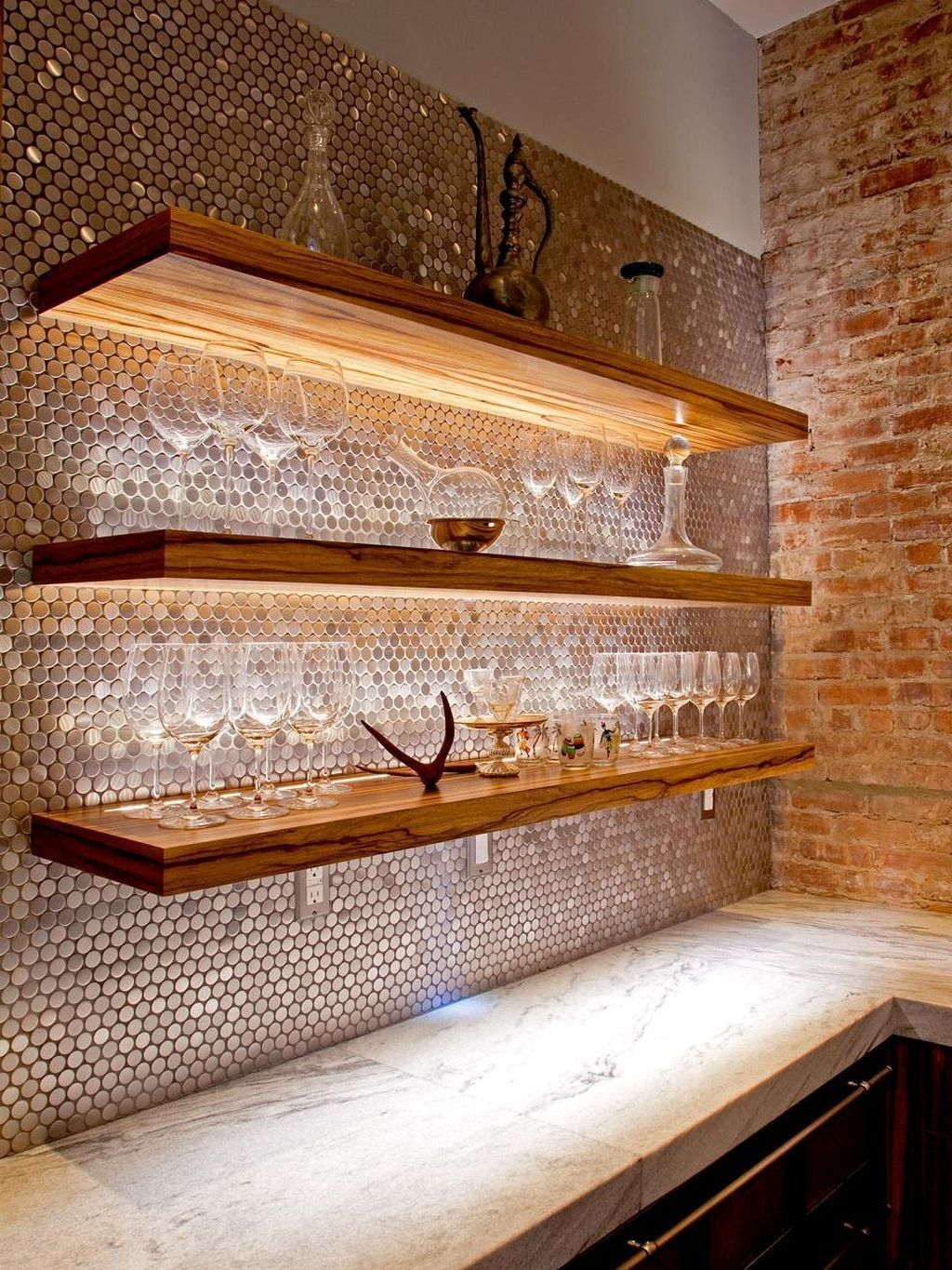 Diy Kitchen Backsplash Kitchen Ideas  Copper kitchen