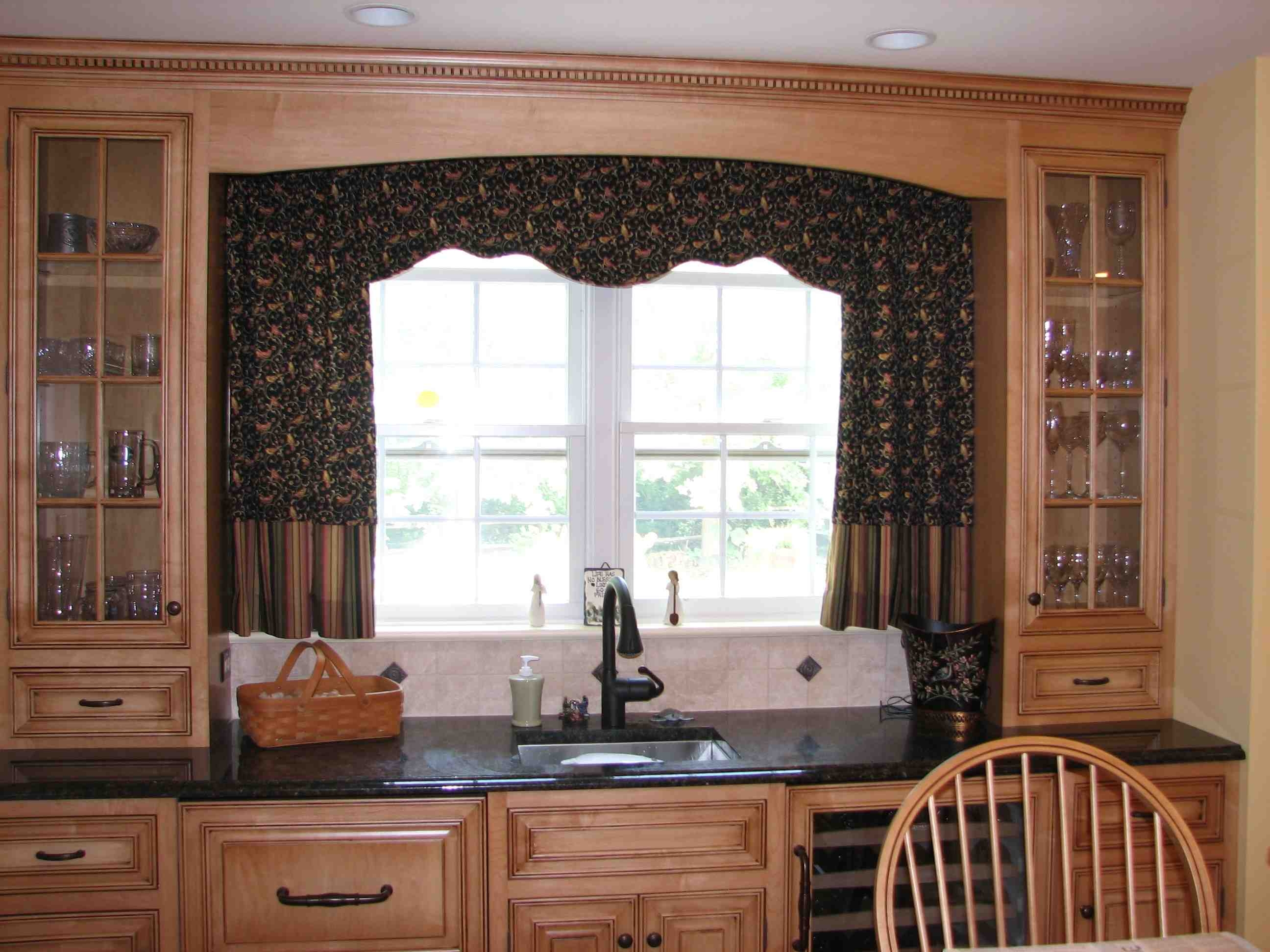 Double window curtain ideas stunning kitchen inspiration