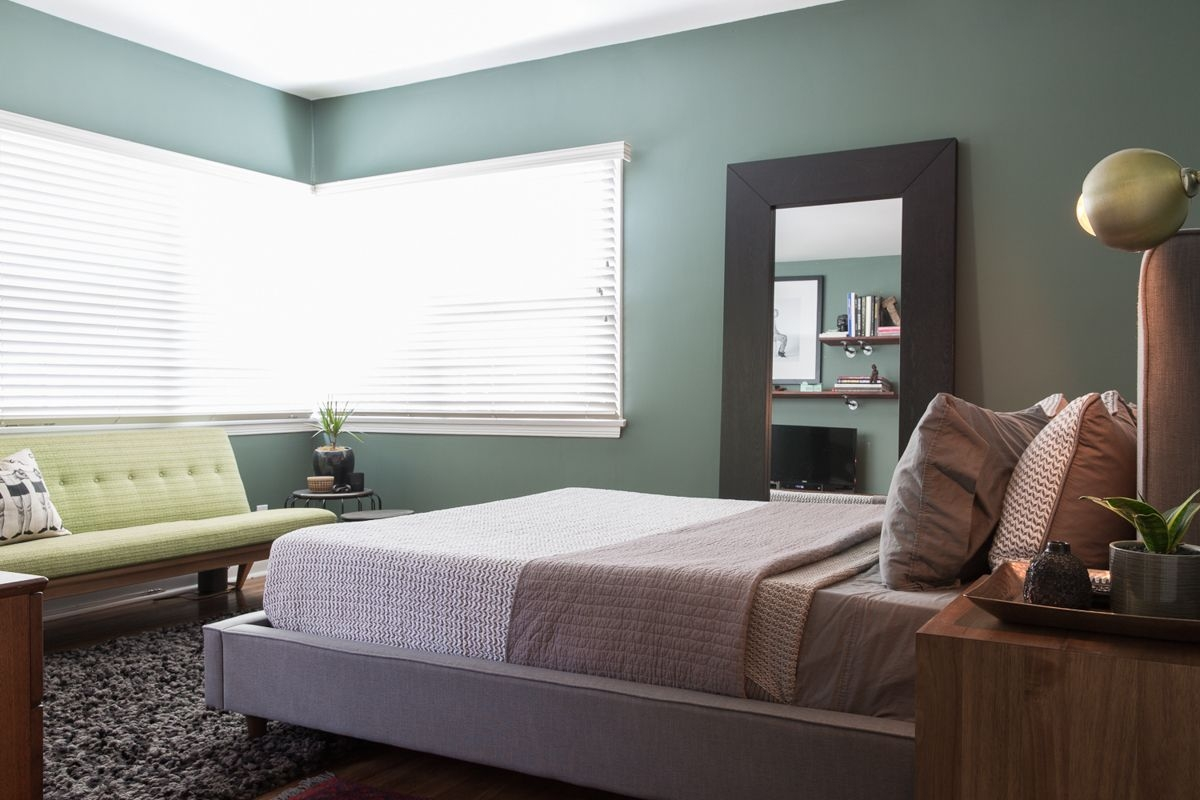 Farrow and Ball Green Smoke  Home bedroom House