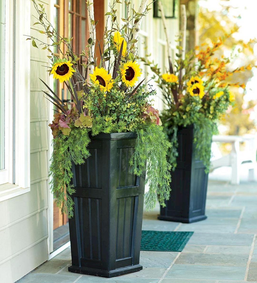 Front Porch Flower Planter Ideas 2 Front Porch Flower