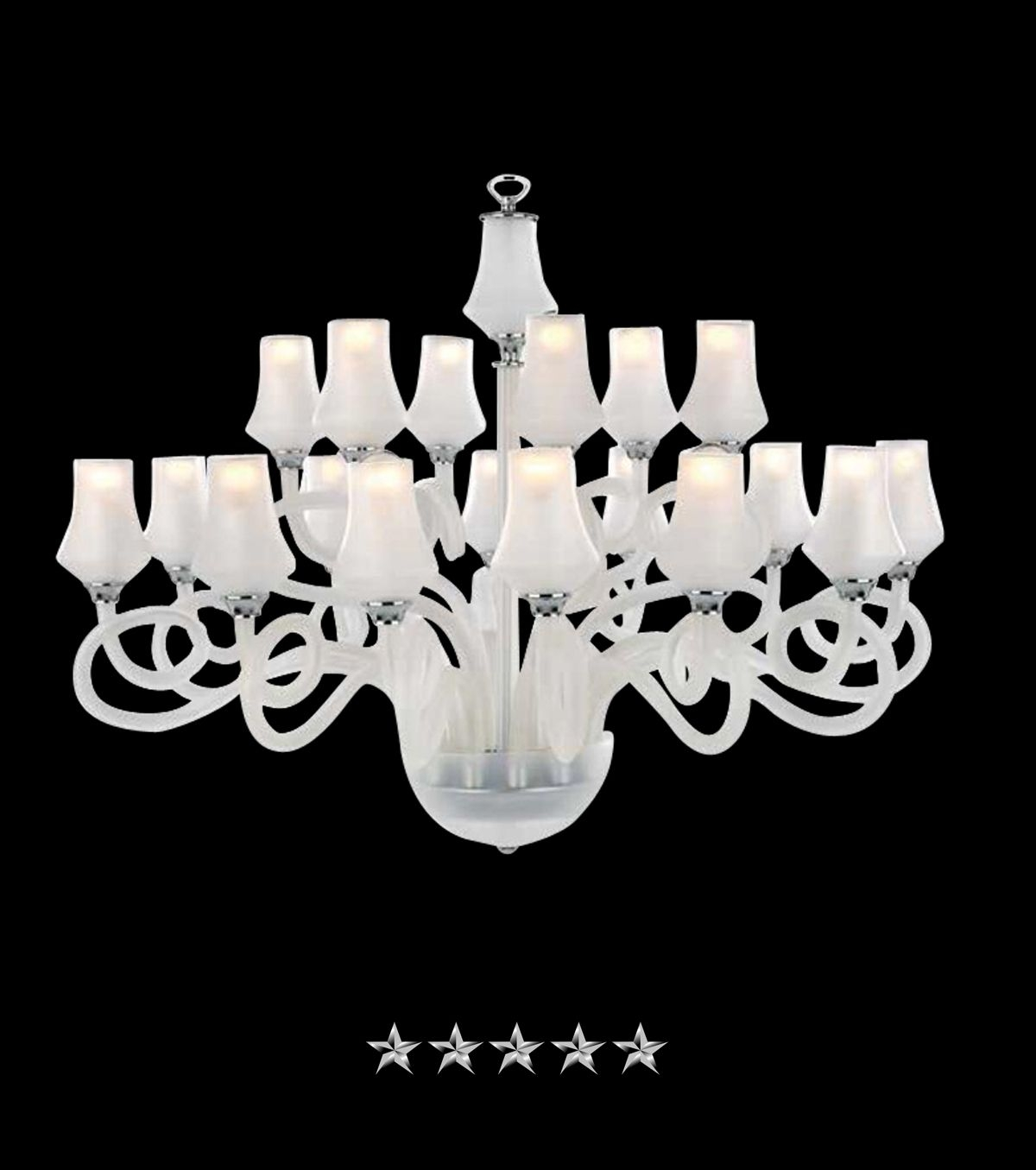 Frosted Corcega Glass Chandelier in 2019  Glass