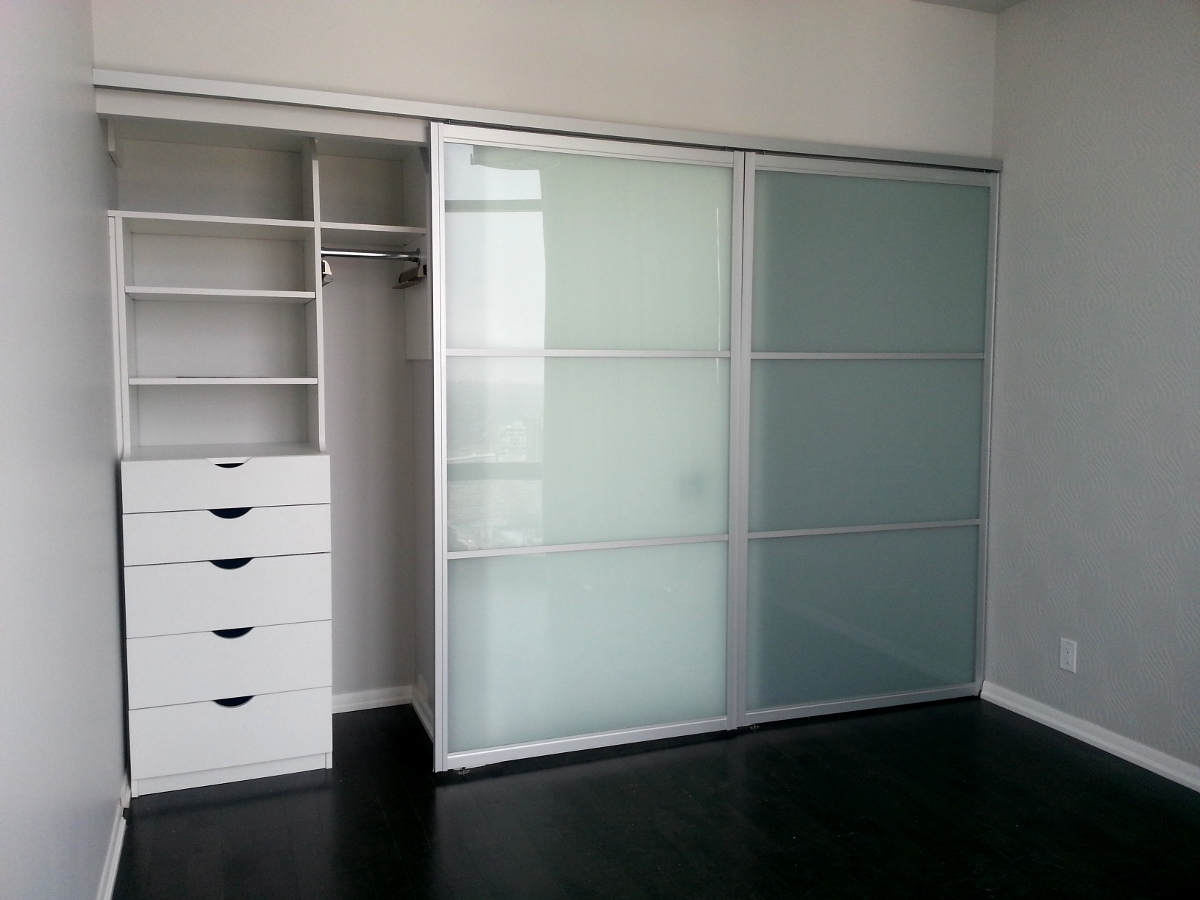 Frosted Glass Closet Doors Bedroom  Home Modern Decors