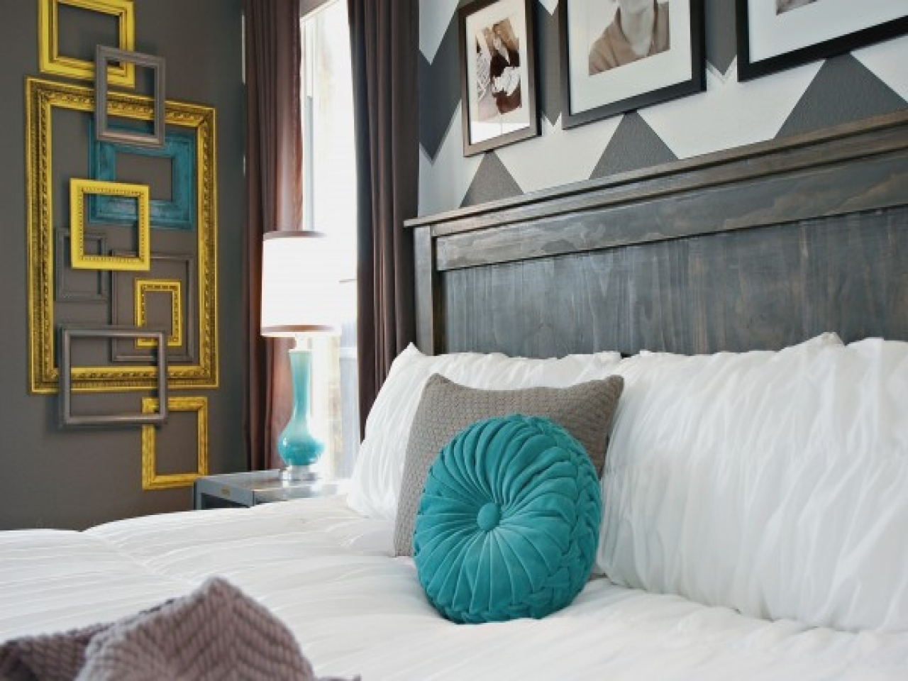Gray and teal bedroom teal and yellow decor teal yellow