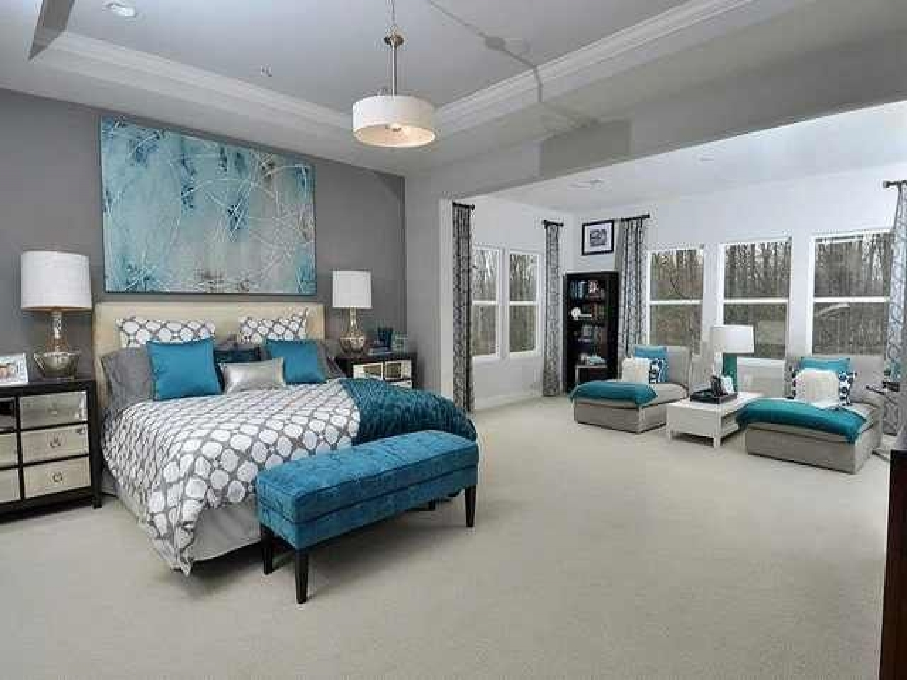 Grey bedroom ideas teal and grey bedroom idea purple and