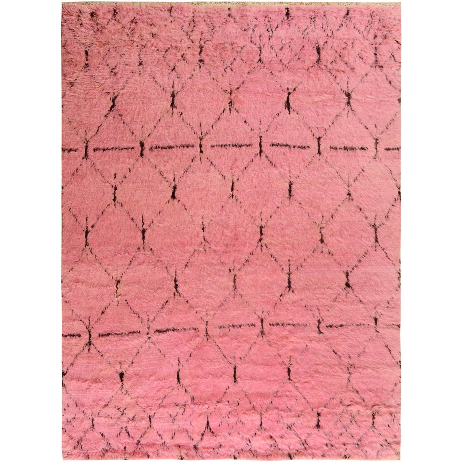 Hand knotted from finest quality wool in Pakistan this