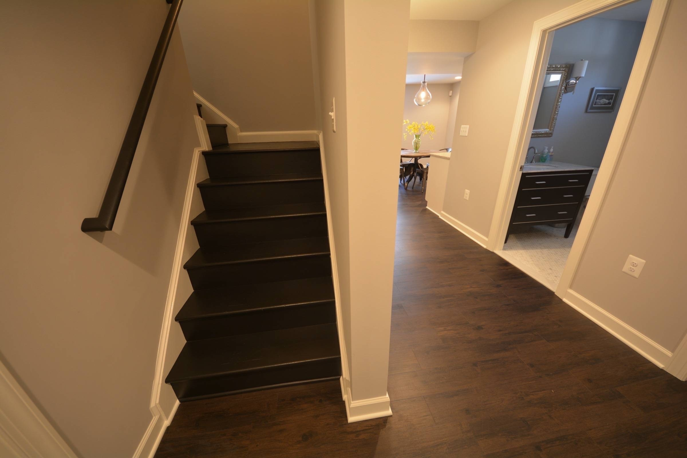 House Plans Stunning Basement Stair Ideas With Colorful
