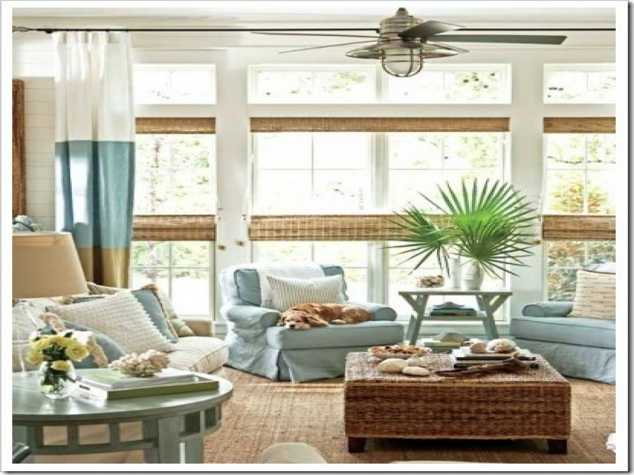 House beautiful window treatments coastal living room