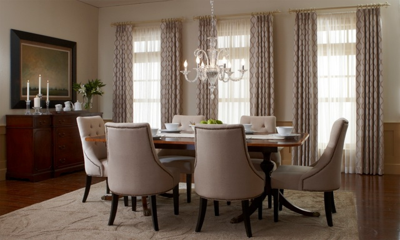 Houzz dining rooms modern window treatments room window