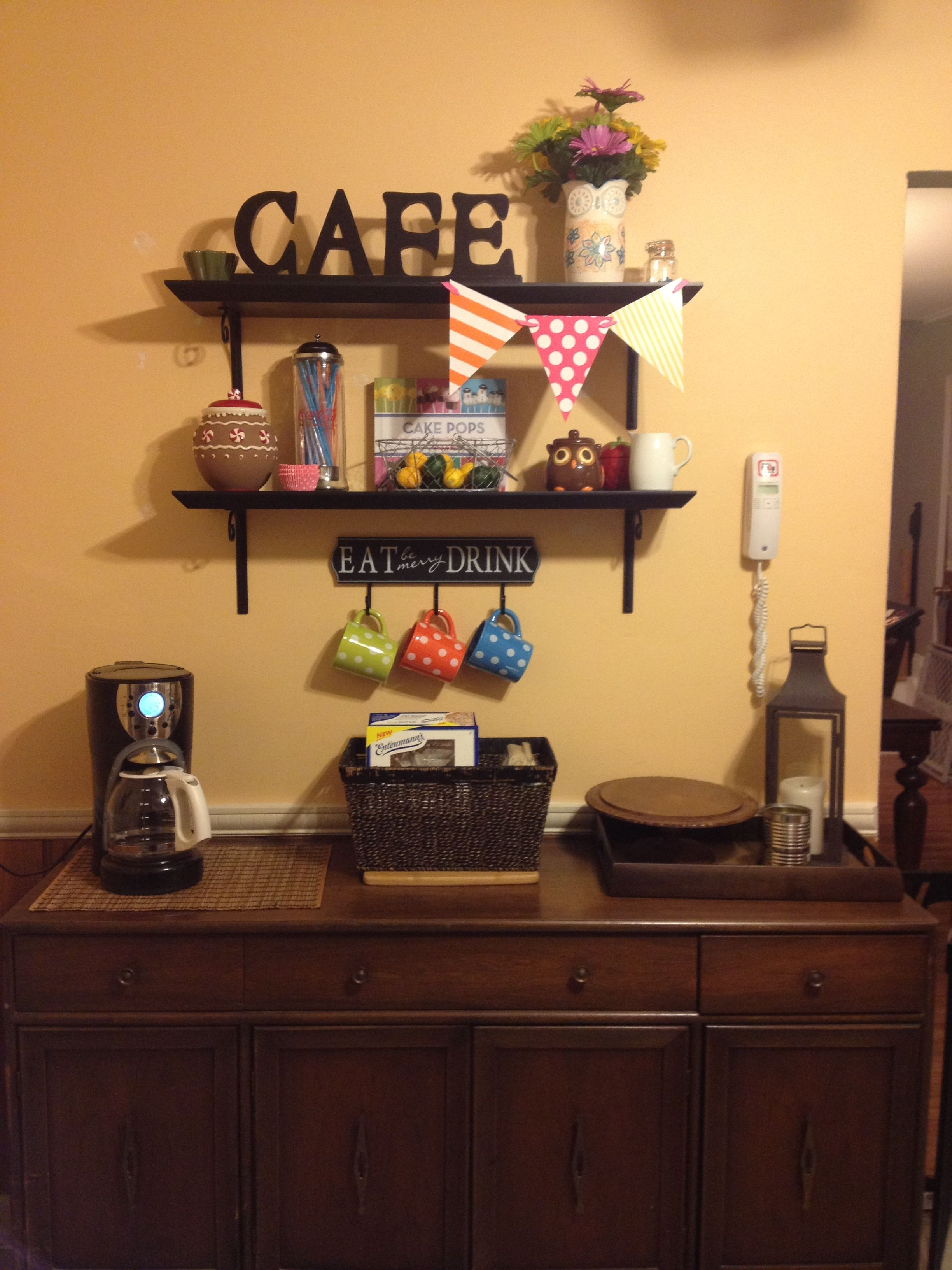 Kitchen decor coffee corner minus the flags wtf is
