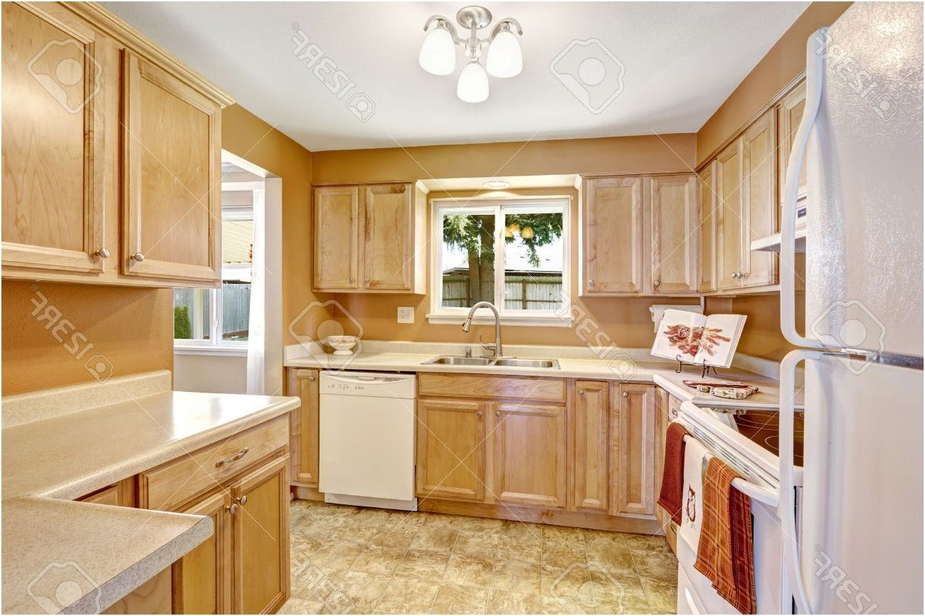 Lovely Kitchens with Oak Cabinets and White Appliances