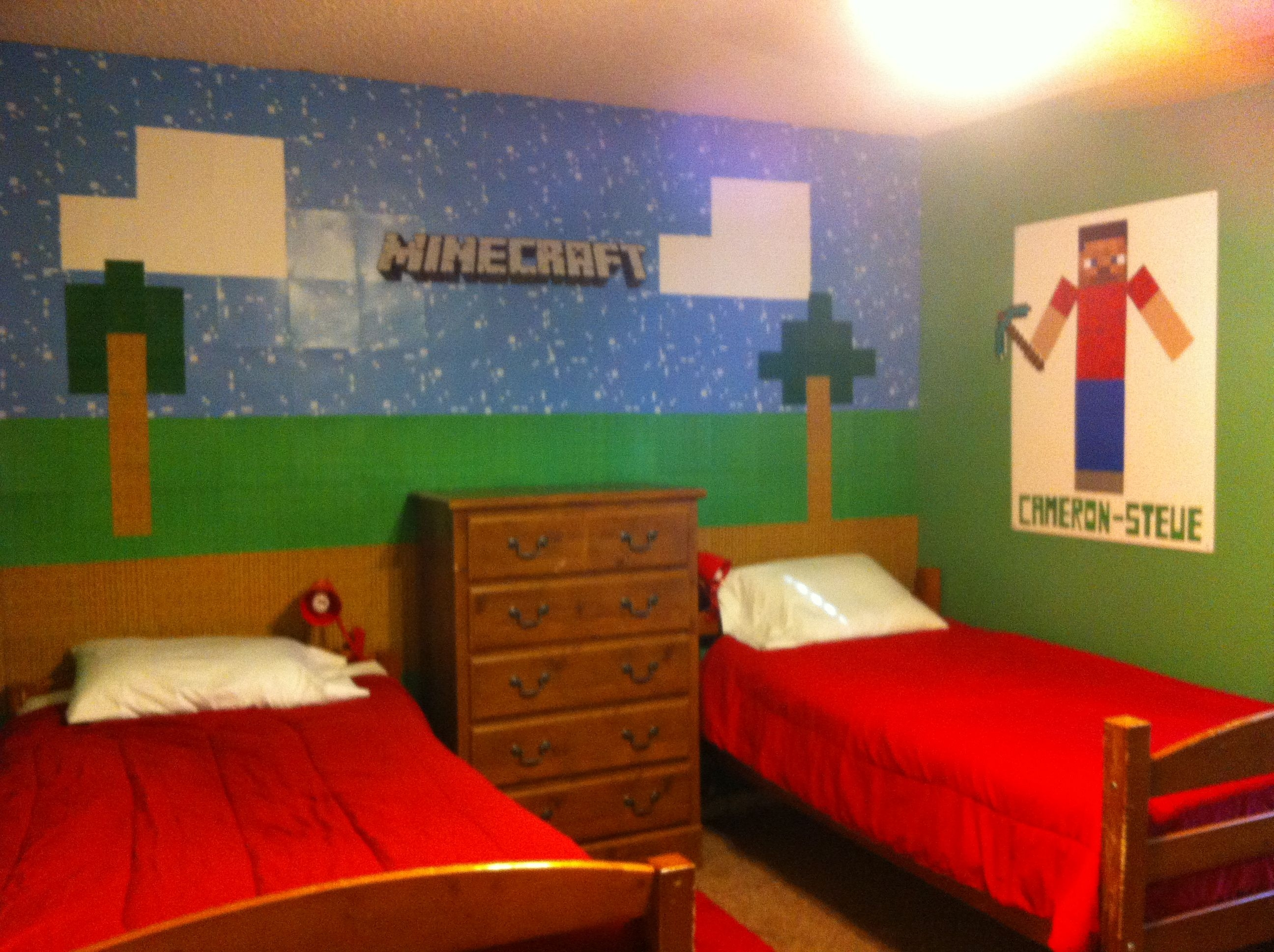 Minecraft room pic2  Kids  Pinterest  Minecraft room