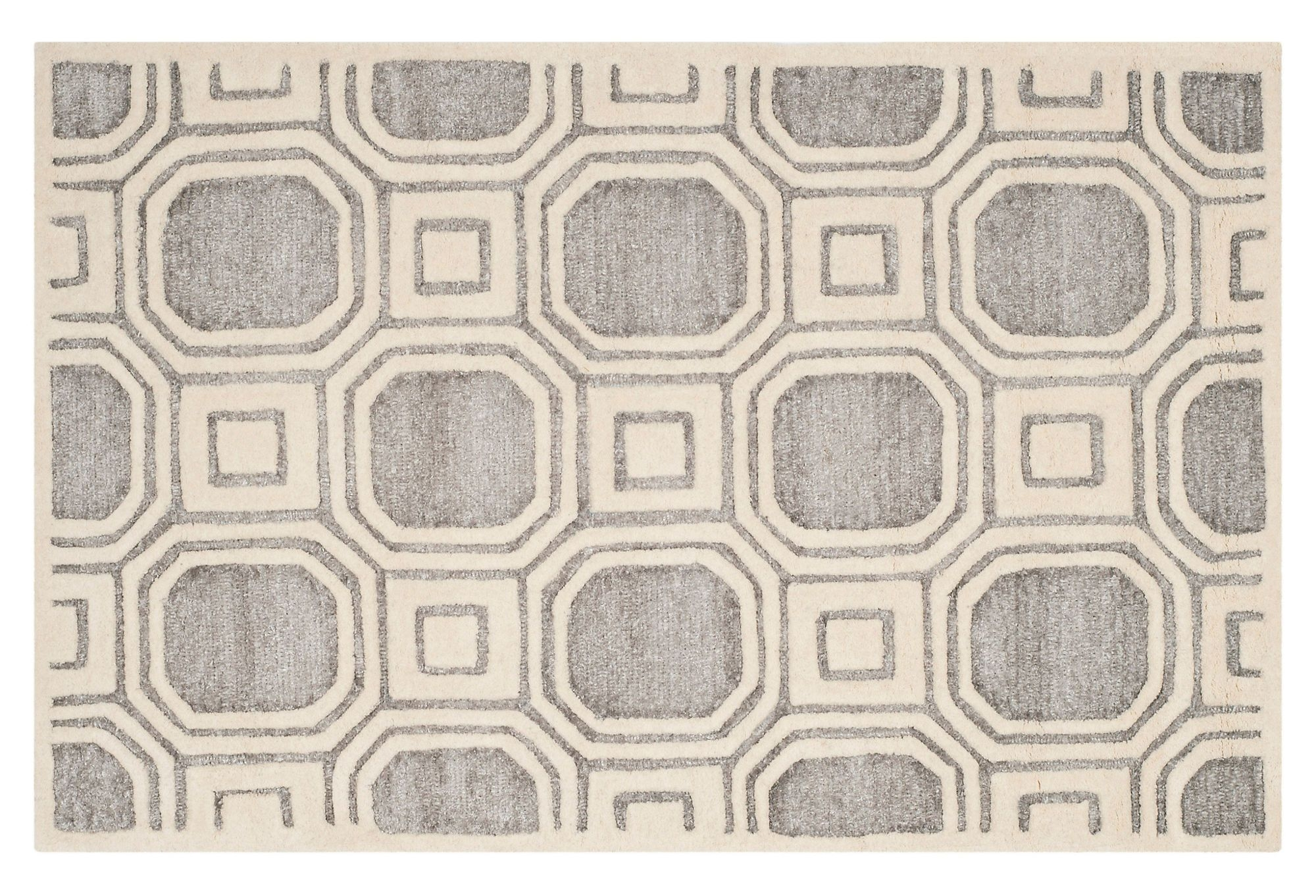 One Kings Lane  Go for Graphic  Felicia Rug Silver