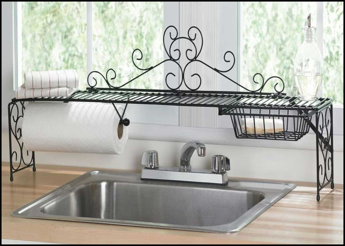 Over The Kitchen Sink Shelf Trendyexaminer Bathroom