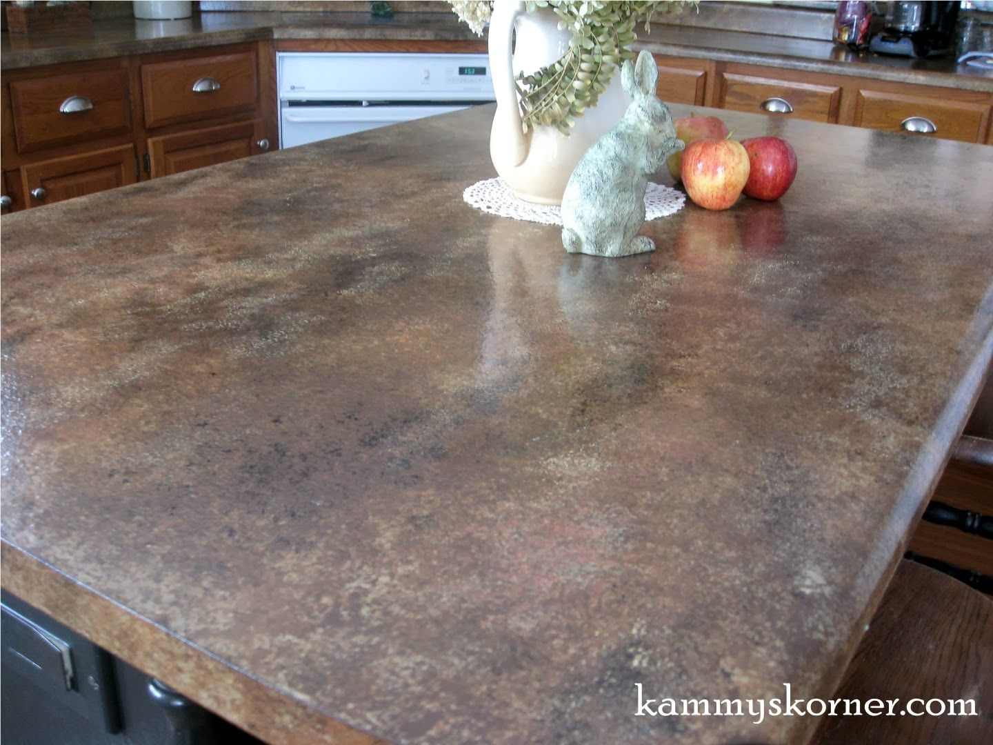Painted Faux Granite Counter Tops With DIY Chalk Paint