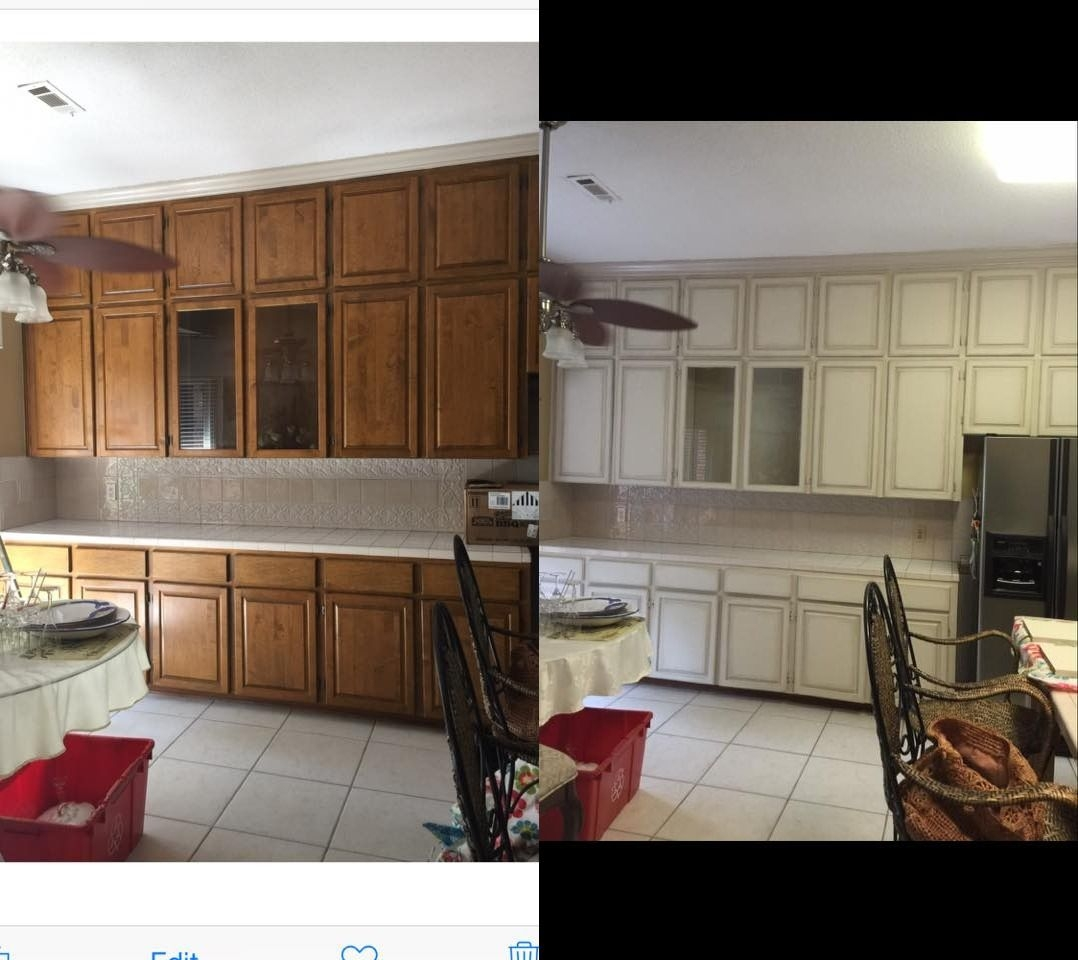 Painting cabinets is easy with Dixie Belle Paint Drop