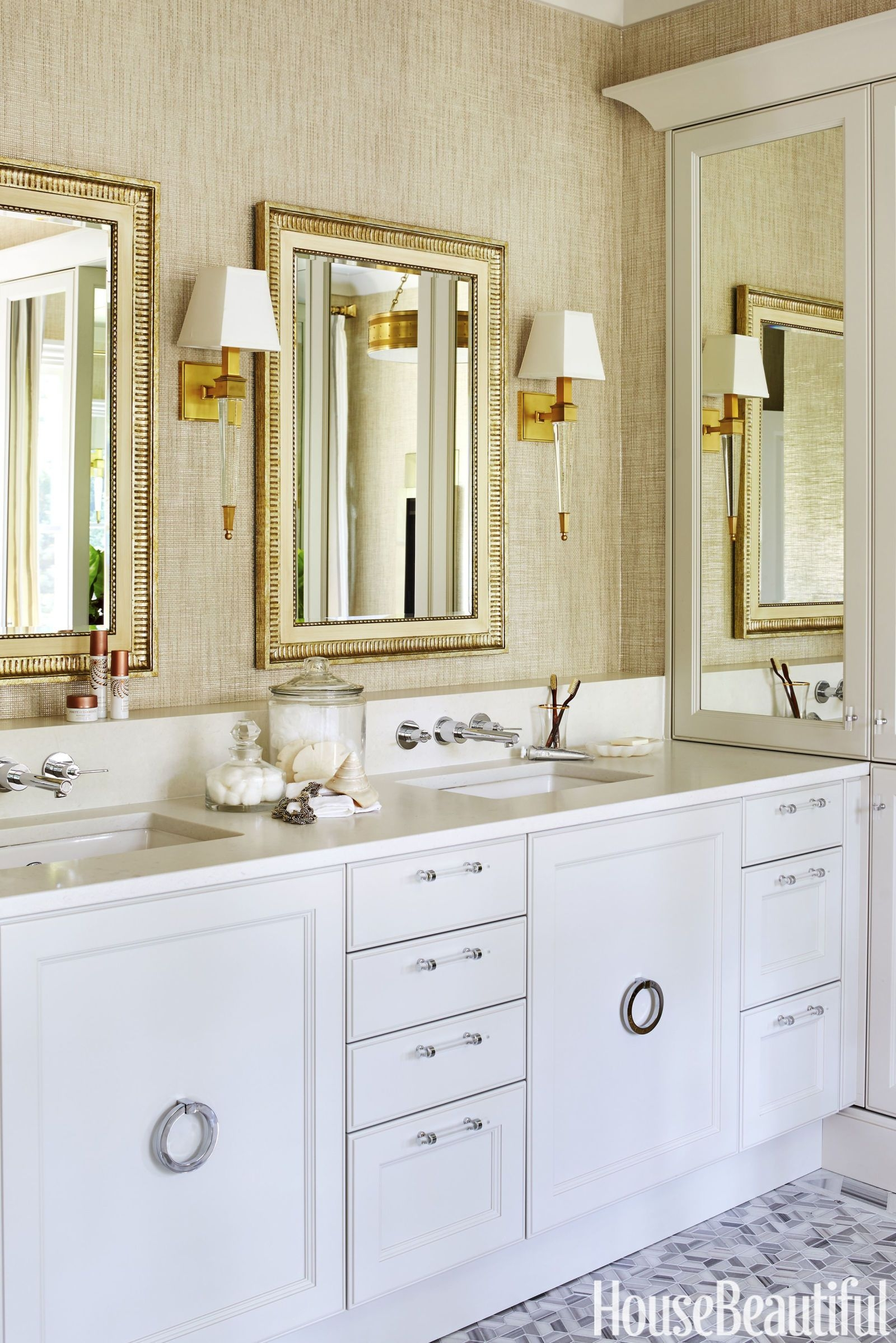 Pampering Comes Easy in This Gilded Master Bath  Bathroom