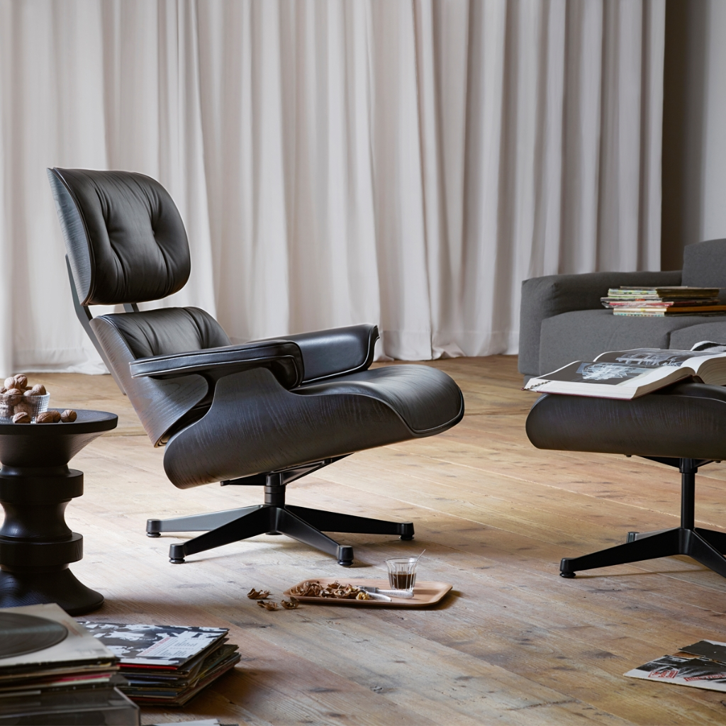 Pleasingly informal and completely classic Eames Lounge