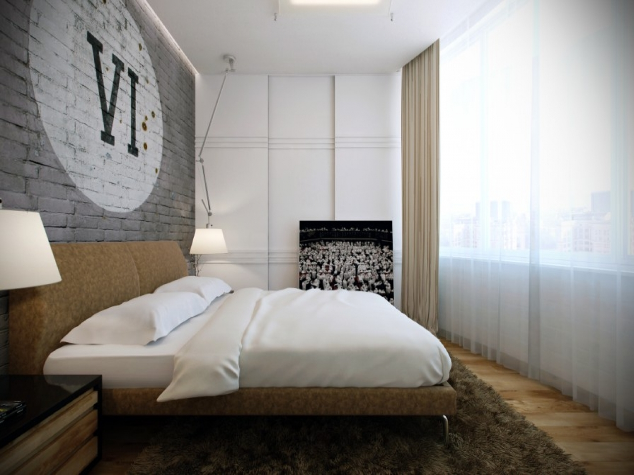 Room designing with texturings masculine bedroom ideas