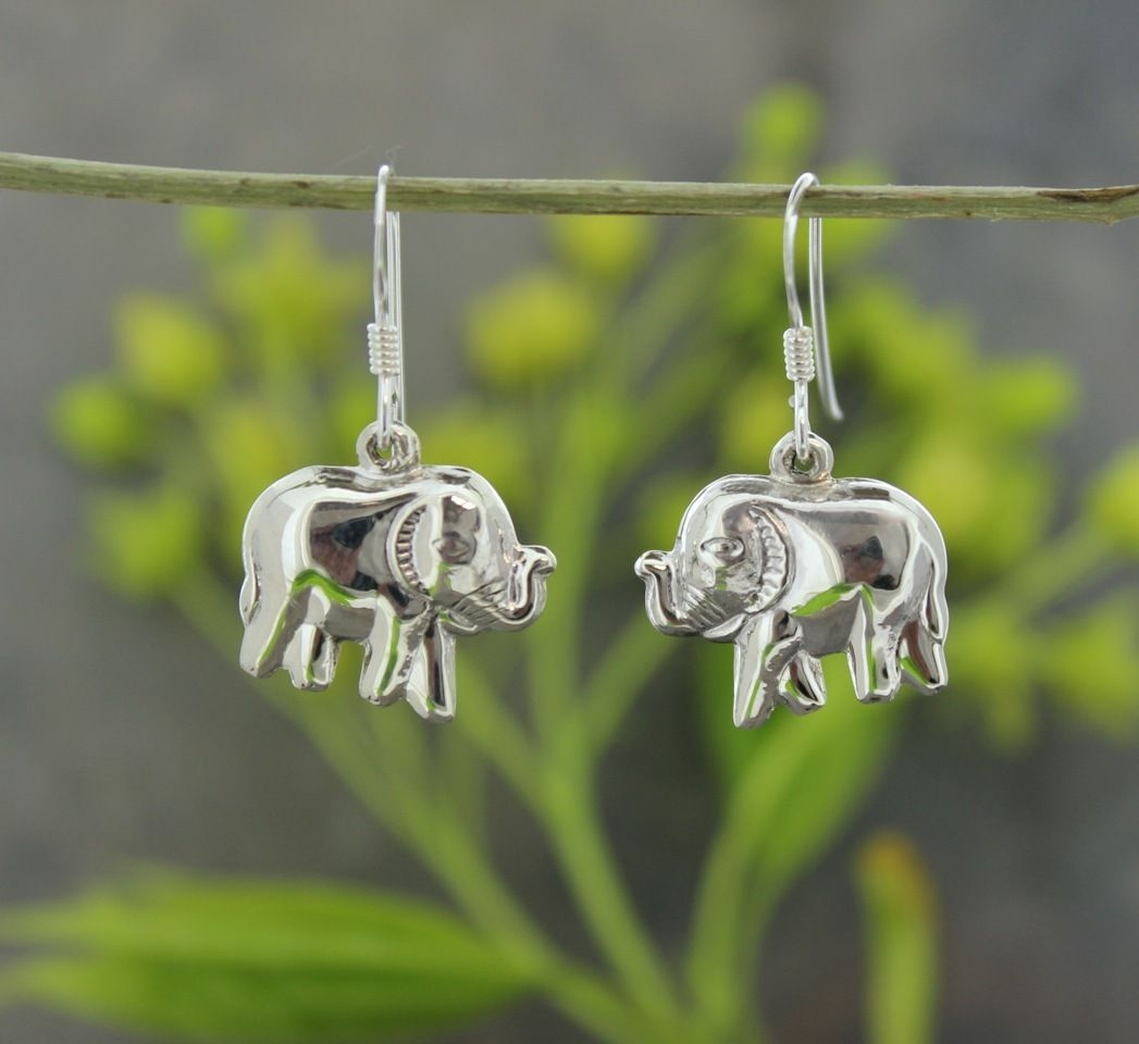 Small Good Luck Elephant Earrings  Elephant earrings