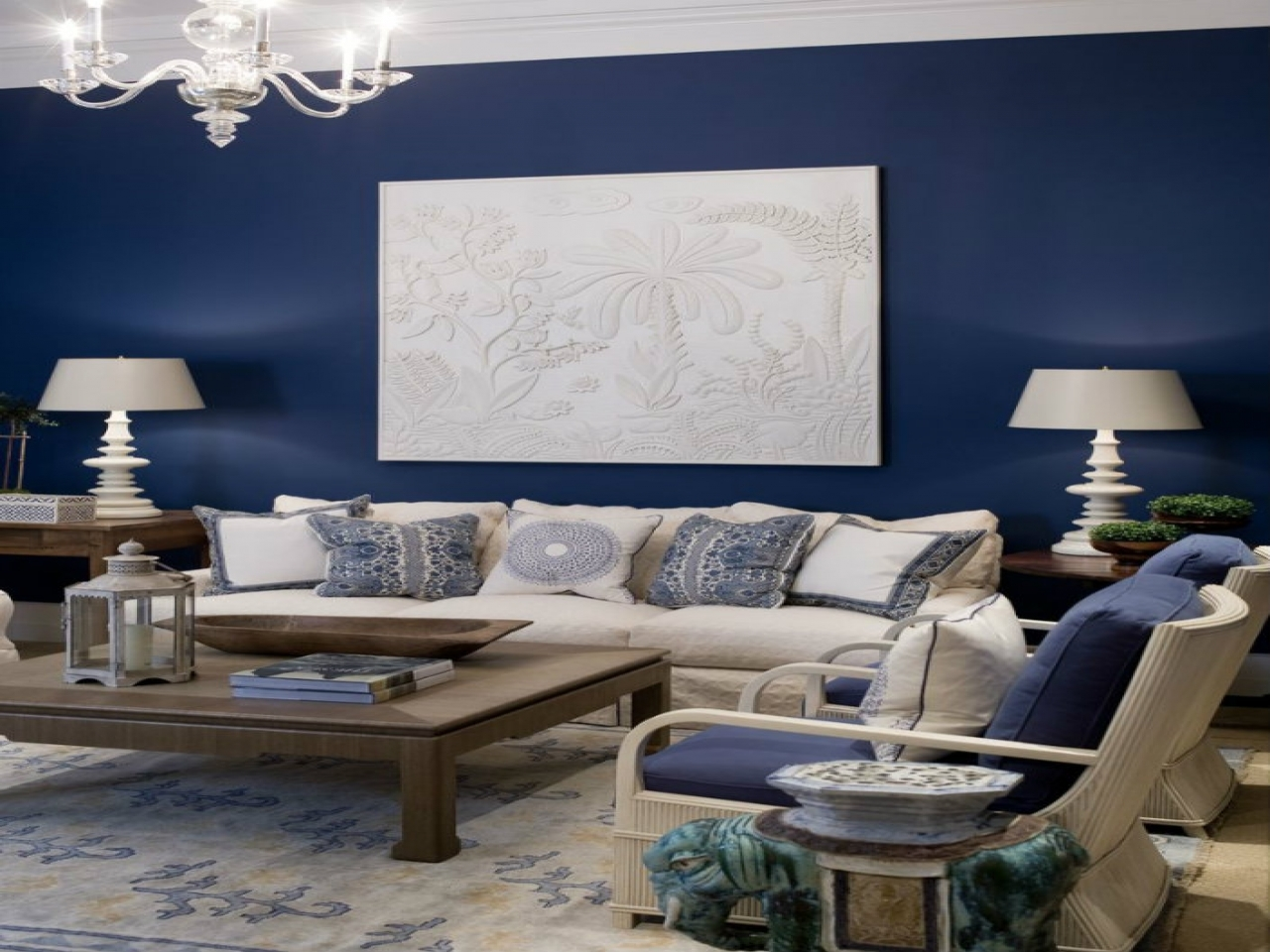 Small living room furniture sets navy blue for accent