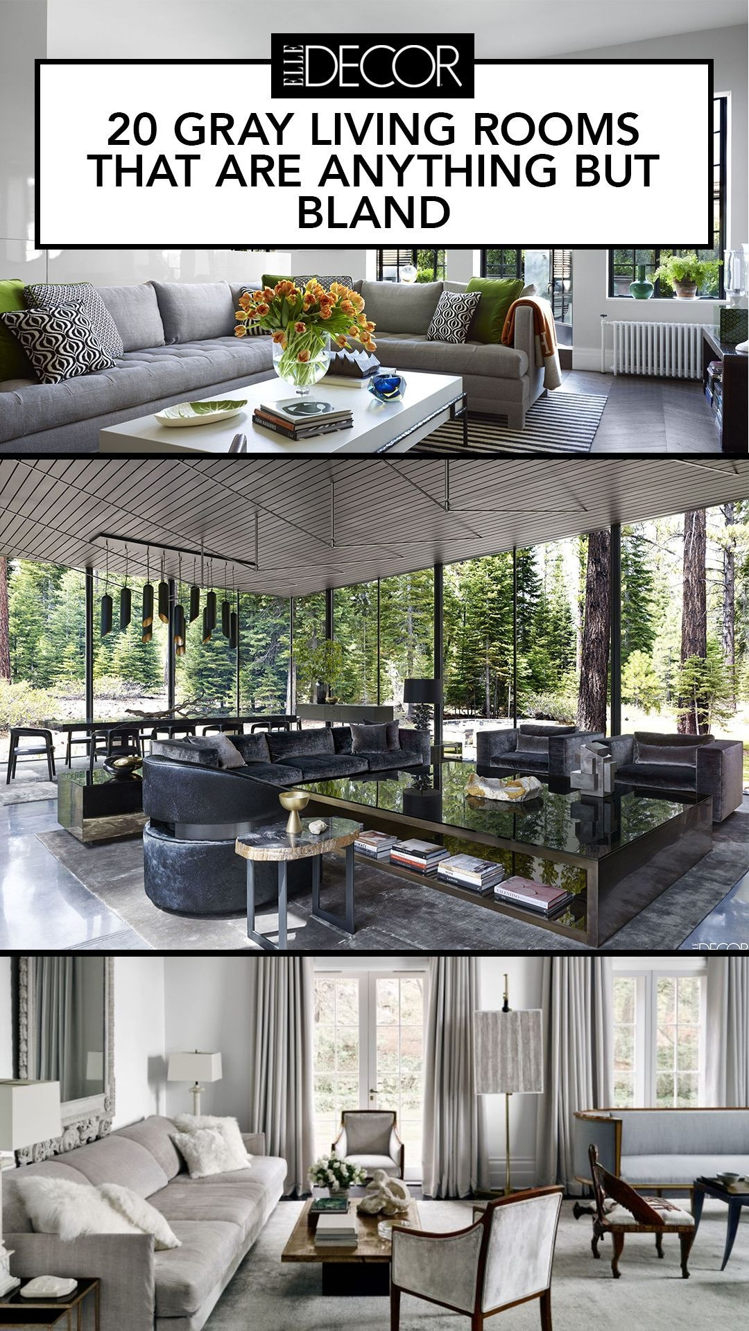 These Gray Living Rooms Are Full of Style  Living room