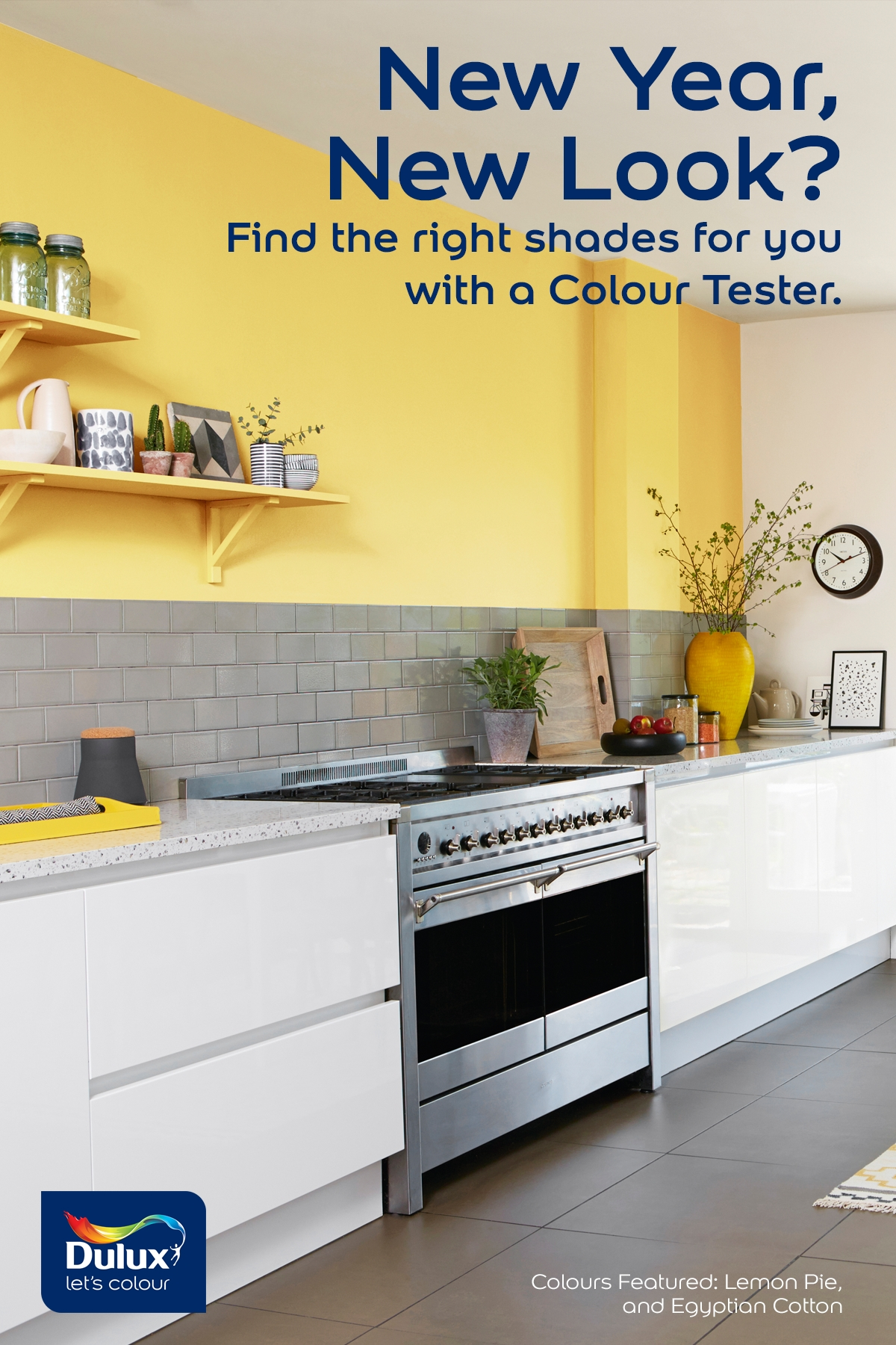 Try a new colour in your kitchen in 2018 for only 167