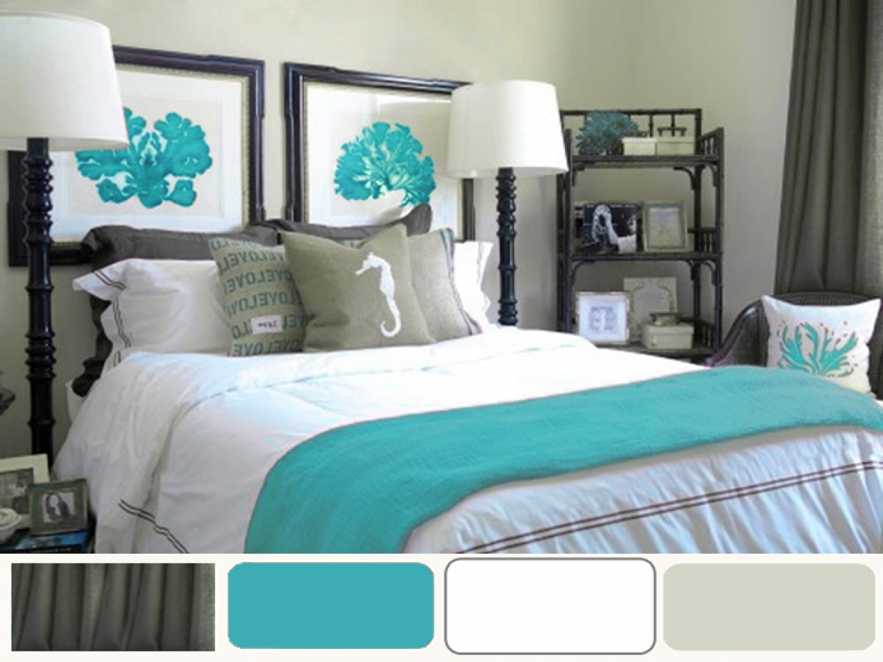 Turquoise decorating ideas grey and turquoise bedroom