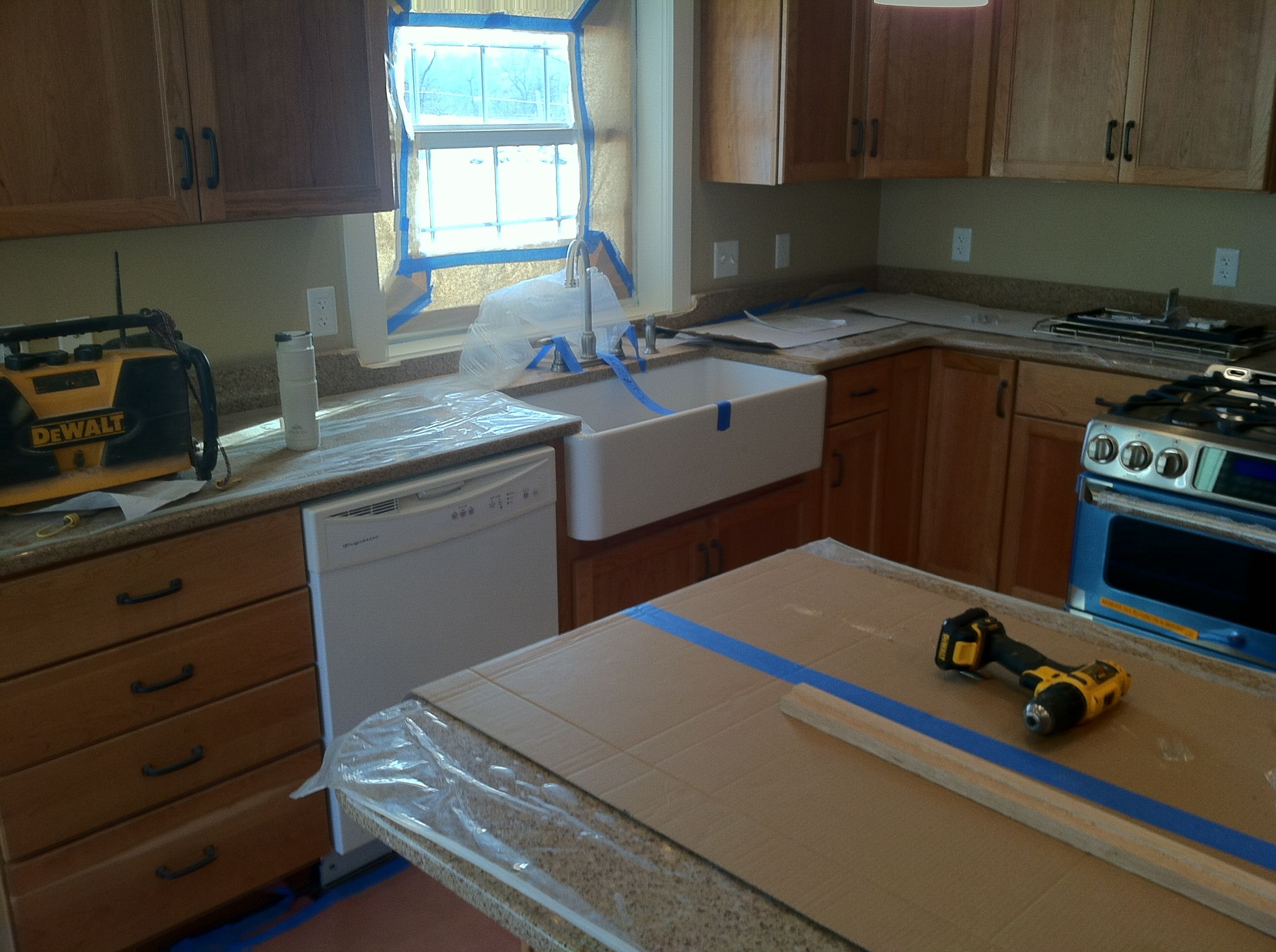the kitchen is almost done  Kitchen Kitchen cabinets Home